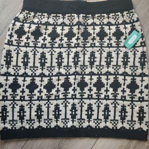 Maurice's Women's Knitted Knee Length Winter Skirt